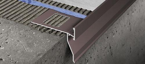 Proterrace drain fdp in alluminio verniciato - profilo per balconi e ...