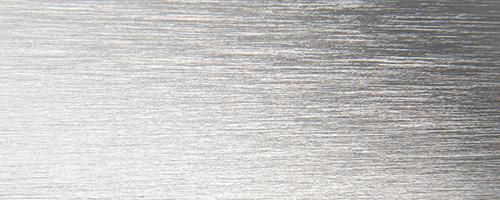 Alluminio brillantato spazzolato argento