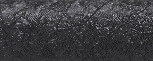 Aluminium laqué crepé noir