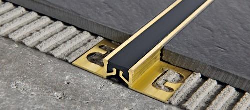 Laiton naturel insert r sine vinylique caoutchouc - Giunti di dilatazione per pavimenti esterni ...