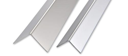 Angolare lati uguali in acciaio inox lucido profilo su misura progress profiles - Unire due pavimenti diversi ...