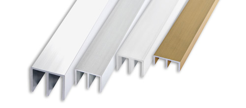 aluminium eloxiert gold und silber gl nzend chrom und lackiert weiss progress profiles. Black Bedroom Furniture Sets. Home Design Ideas