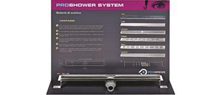 Aussteller proshower system für schauräume