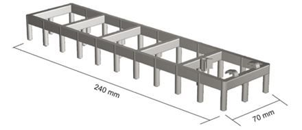Spacers for vertical/horizontal mesh