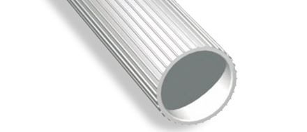 Ribbed spacer tube