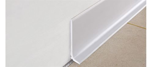 Skirting boards in aluminium and pvc - contemporary design