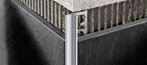 Proterminal int in alluminio anodizzato brillantato profilo per rivestimenti progress profiles - Angolari per piastrelle ...